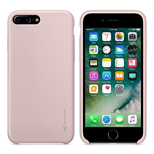 """MOONCASE iPhone 7 Plus/iPhone 8 Plus Hülle, Weich TPU Kratzfest Stoßfest Schutztasche Ultra Slim Schroff Rüstung Handysocken Case für iPhone 7 Plus/iPhone 8 Plus 5.5"""" Black Pink"""