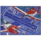 Associated Weavers 616091 - Alfombra con diseño de la película de Disney Aviones (gel de espuma de poliamida, 95 x 133 cm)