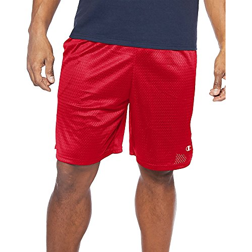 Herren Big-Tall Mesh Short mit Piping_Crimson_3XL (Mesh Crimson Shorts)