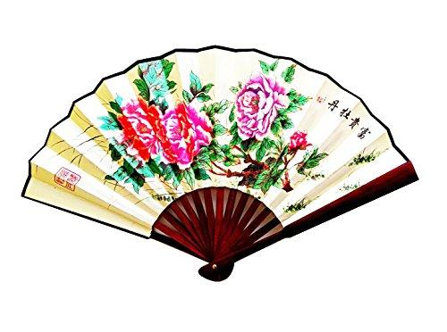 CHN elements. & Küche f-l2-chinese dünn Silk zusammenklappbar Hand-/Wand-Dekoration mit Orientalisch Muster on-peony (Einfache Kostüme Für Lehrer)