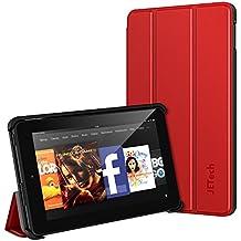 Fire 7 Funda, JETech Fire 7 Funda Carcasa Protección con Stand Función para Amazon Fire 7 Tablet (Modelo de 2015 5th Generación) (Rojo)