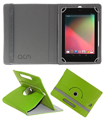 Acm Rotating 360° Leather Flip Case for Asus Google Nexus 7 Cover Stand Green  available at amazon for Rs.149