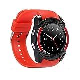 DXABLE V8 reloj inteligente, deportes Fitness Tracker Bluetooth reloj de pulsera con tarjeta SIM y ranura para tarjeta TF cámara mensaje notificación Monitor de sueño para iphone Samsung y otros Smartphone Android, para FOR IPHONE 7 7PLUS 6S 6 PLUS, 5S 5 FOR Huawei Vivo Blackberry Phone FOR IPHONE 4,4S, 45,5C, 5S, SE, 6, 6S, 6S PLUS 7 7PLUS FOR Android IOS Smart Phone Samsung S5 / Note 2 / 3 / 4,nexus 6,htc,sony,huawei FOR IPHONE 4,4S,45,5C,5S,SE,6 ,6S ,6S PLUS 7 7PLUS (Blanco)