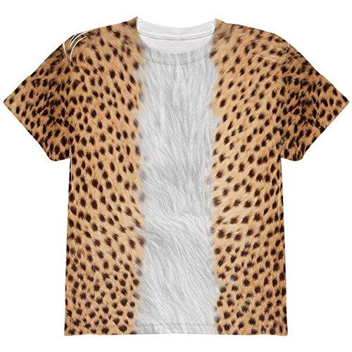 Kostüm Halloween Cheetah ganzen Jugend T Shirt Multi YSM (Kinder Kostüme Cheetah)