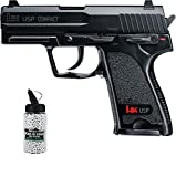 SET: H&K Heckler & Koch USP Compact unter 0,5 Joule 6mm + G8DS® Softair Munition BIO BBs Premium Selection 2000 Stück 0,20 g 6mm