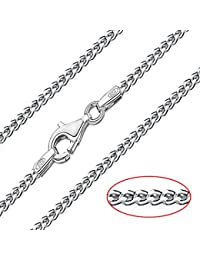 Amazon silver chains necklaces pendants jewellery solid genuine italian 925 sterling silver 2mm diamond cut curb chain necklace 16 aloadofball Gallery