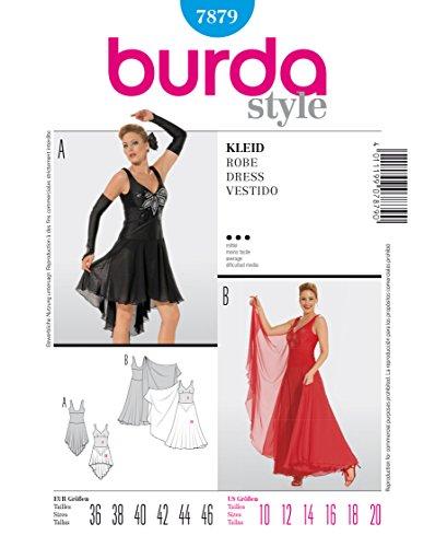 Burda 7879 Schnittmuster Kostüm Tanz-Kleid (Damen, Gr. 36 - 46) Level 3 mittel