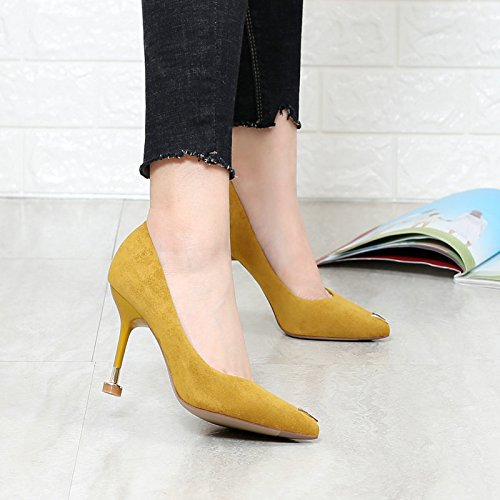 Et Peu Seven Chaussures De Talons Du Leurope À Fer Mode Unis Hauts A Rwxq0Xfa1