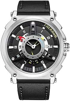 FAERDUO Estilo británico de Hombre Cara Grande Relojes Reloj de Hombre Moda Casual Deportes Diseño único