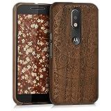 kwmobile Holz Hülle Natur Case für Motorola Moto G4 /