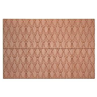 Panelados - Panel decorativo 3D (Mod. Trama Oriental) Decoración pared autoadhesiva. 8 pcs. 30 x 40 cm. Revestimiento pared y techo. DIY montaje fácil. (Almagra)