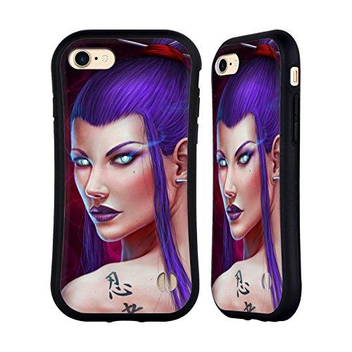 Ufficiale Christos Karapanos Carmilla Donna Case Ibrida per Apple iPhone 7 Plus / 8 Plus Assassino Velvet