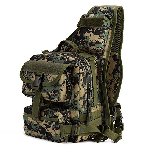 magcomsen Man Assault Rucksack Wandern Sling Pack Military Army Tactical Nylon Tasche Woodland