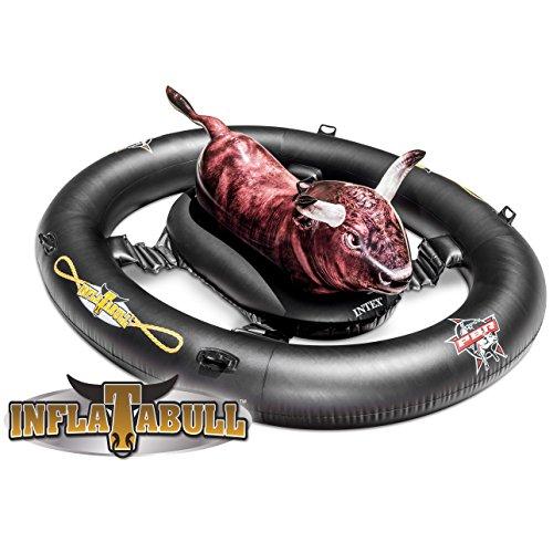 INTEX inflat-a-Bull, Inflable Ride-on Piscina de Juguete con la impresión Realista 2,39...