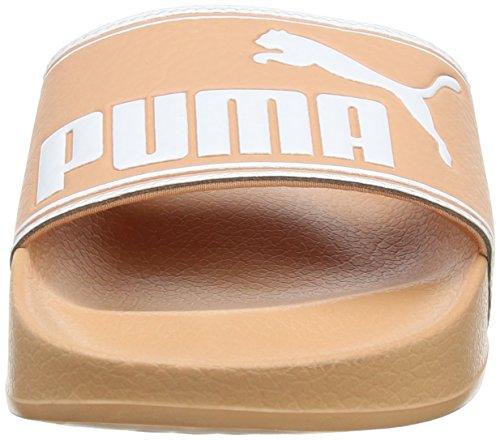 Puma Leadcat, Chaussures de Plage et Piscine Mixte Adulte Beige (Muted Clay-puma White)