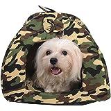 taonmeisutm suave lavable mascota cachorro perro gato caliente cesta Cama Cojín camuflaje diseño mascota resto cama casa habitación para perros pequeños y gatos 3tamaños