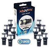 T10 5 SMD Cool White LED Auto -Glühlampe - Wedge Typ - W5W 194 168 5050 - 12V - Packung mit 10 - Direkte Replacment und Rückwärts - Auto - RV - für Interior - Signal , Dome, Trunk , Armaturenbrett, Standlicht