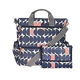Wickeltasche für Zwillinge. Diese geräumige und multifunktionelle Wickeltasche lässt sich als Umhängetasche oder als Rucksack tragen und besitzt zusätzlich praktische Tragegriffe.