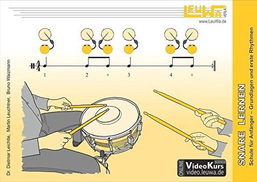 Snare Drum lernen, Schule für Anfänger: Grundlagen und erste Rhythmen (Hefte für Percussionsinstrumente)