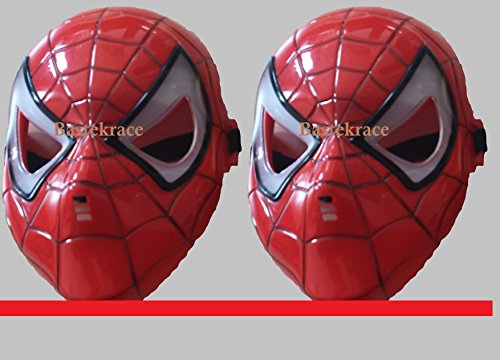 (2 günstige neue Spider Man Masken mit LED Beleuchtung für Kinder)