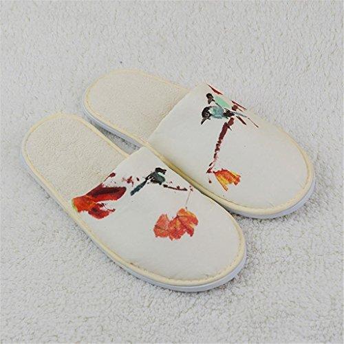Hotel slippers 2 paia pantofole usa e getta eva pantofole antisdrucciolo da bagno in stile vivo da viaggio viaggi facile da percorrere pantofole semplici