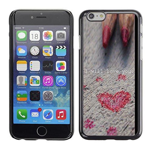 Graphic4You Art Hearts Design Harte Hülle Case Tasche Schutzhülle für Apple iPhone 6 / 6S Design #20