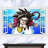 JUNMAONO Dragon Ball Z SON GOKU Wandaufkleber/Abnehmbare Wandbild Aufkleber/Wandgemälde/Wand Poster/Wandbild Aufkleber/Wandbilder/Wandtattoo/Pinupbild/Beschriftung/Pad einfügen/Tapete/Tapezieren/Tapeten/Wand Zeitung/Wandmalerei Haftnotiz/Fühlen Sie sich frei zu kleben/Instant Aufkleber/3D-Stereo-Wandaufkleber