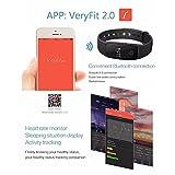 FANCY CHERRY® Bluetooth Smart Armband, Schrittzähler, Fitnessarmband mit Herzfrequenzmesser, Fernbedienungskamera, Schlafanalyse - 6