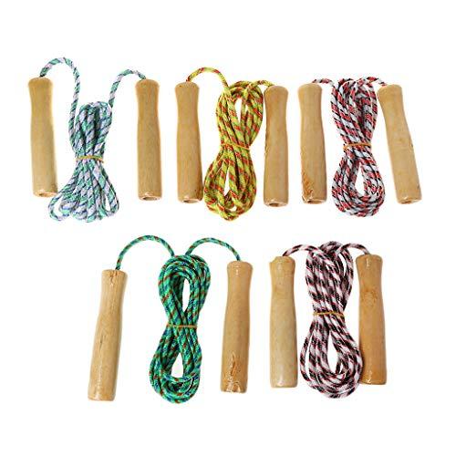 JERKKY Holzgriff Seilspringen Kid Fitnessgeräte Praxis Geschwindigkeit Überspringen 2 mt 1 Stück Farbe Zufällig
