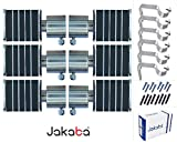 JAKABA Premium Quality Wenge Finish Stainless Steel and Alloy Curtain Finials with Heavy Supports - PACK of 12 Pcs. (Finials : 6 Pcs + Supports : 6 Pcs) : Curtain Brackets Set / Holders for Window / Door - JKB32103WG