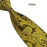 UJUNAOR Blumen Paisley Krawatte Taschentuch Herren Krawatte(D)