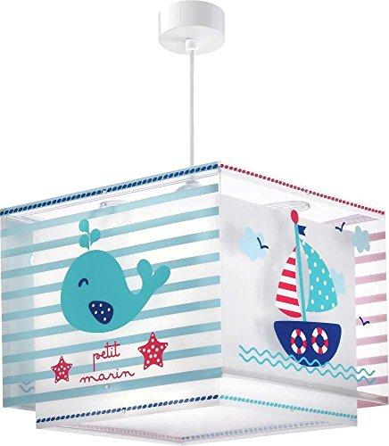 Küste Mädchen (Kinderzimmer-Lampe Küste Hänge-Lampe 43422 mit LED neutralweiß 840lm Segelschiff Wahl Leuchtturm bunt Mädchen & Jungen)