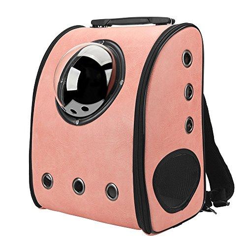 IACON Backpack Pet Carrier Haustier Rucksack Brust Tragetasche Transportrucksack für Hunde & Katzen (Pink) (Auf Traveler Rucksack Rädern)