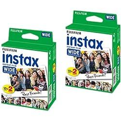 Lot de 2 pellicules/40 poses instantanées pour appareil photo Polaroid 210 200