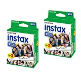 2 Packs (40 sheets) Fujifilm Fuji Instax Wide Film Instant Photos for Polaroid 210 200 Camera