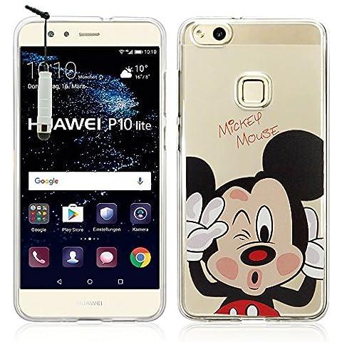 VComp-Shop® Transparente Silikon TPU Handy Schutzhülle mit Motiv Cartoon Disney Fröhliche Weihnachten! für Huawei P10 Lite 5.2