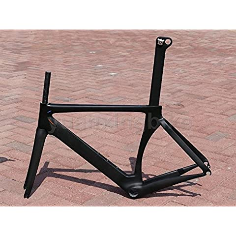317# Toray Carbon Telaio Carbonio 3K opaco Road Bike Frame 50cm forcella reggisella Headset Plug Sedile BB