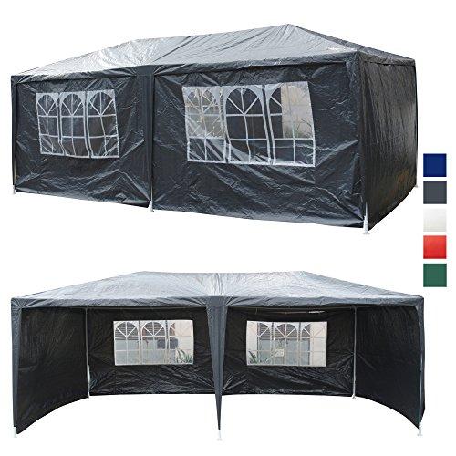 9. Festzelt 6x3 M Partyzelt Mit 6 Seitenwänden Bierzelt Grau Gartenzelt  Wasserabweisend Pavillon TYP GZ 036 6