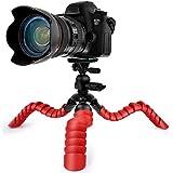 Coolway® 11,5 Zoll Pipi Großes Flexibles Reisestativ für DSLR Kamera Super Flexible Gelenke Schnellverschluss mit Sicherungsring Mini Stativ - Orange Rot