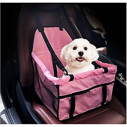 Yuelu imperméable à l'eau Carré pour animaux de compagnie respirant Sécurité Car Seat Belt Hood Pouch Bag Fournitures pour animaux de compagnie Dog Cats Pet Mounts.5 couleurs en option rose rouge gris bleu noir