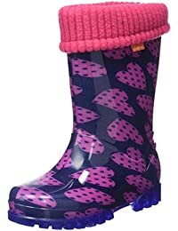 Toughees Shoes  Character Welly With Removable Sock, Bottes de Pluie mixte enfant - rose - Rose, 25 EU enfant