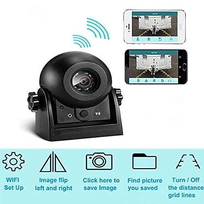 Auto-Rckfahrkamera-WiFi-Magnetische-Kamera-Wasserdicht-IP68-Backup-AutoKamera-mit-intelligenter-APP-kompatibel-mit-Android-und-iPhone-Nachtsicht-fr-Kfz-SUV-Van-Anhnger