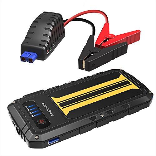 RAVPower Powerbank Starthilfe mit 300A Spitzenstrom Autobatterie Ladegerät 12V Anlasser 8000mAh für Auto bis zu 2.0 L Benzinmotoren, Quick Charge, Eingebaute LED-Taschenlampe (Mobile Auto-ladegerät)