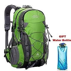 Idea Regalo - Zaino Sportive Trekking Impermeabile 40L Traspirante Spalla Zaino Viaggio Escursioni Alpinismo Arrampicata Zaino Unisex Zainetto All'Aperto Verde