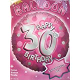 ¿Helio para globos sensación 30 cumpleaños con gas para? Recargables Serie brillante rosa 45 cm