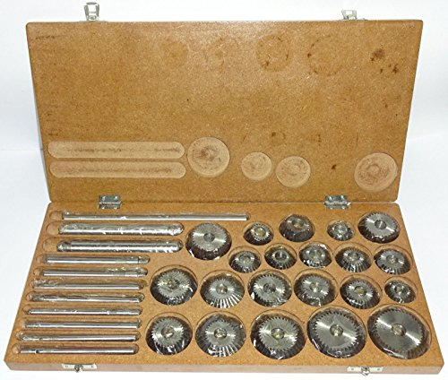 Ventil Sitz & Face Cutter Set/Kit - 21 PCS SET für Vintage Cars & Bikes in Holz Fall -