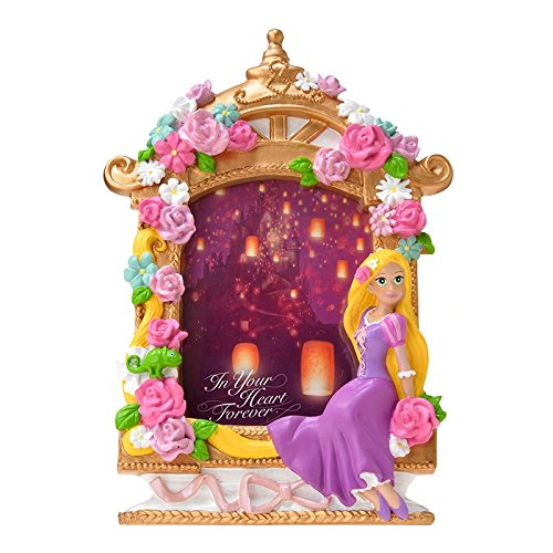 new-disney-store-rapunzel-tangled-photo-frame-stand-purple-flower-picture-japan