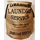 "Wäschesack ""Laundry Service Deluxe"" hellcoffee H 55 cm"