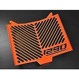 KTM 1290 Super Duke R BJ 2014-18 Kühlerabdeckung Wasserkühler Kühlergrill Kühlerschutz Kühlergitter Kühlerschutzgitter Kühlerverkleidung Logo orange