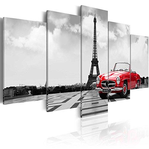 murando Quadro 200x100 cm 5 Pezzi Stampa su Tela in TNT XXL Immagini Moderni Murale Fotografia Grafica Decorazione da Parete Parigi Auto Quadro 030106-11
